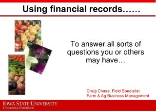 Using financial records