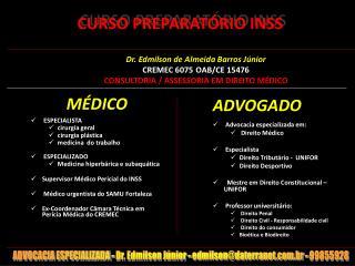 CURSO PREPARAT RIO INSS
