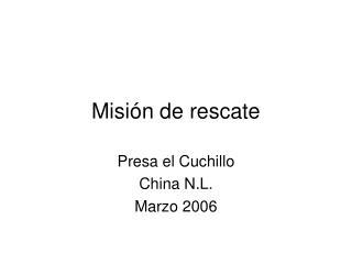 Misi n de rescate
