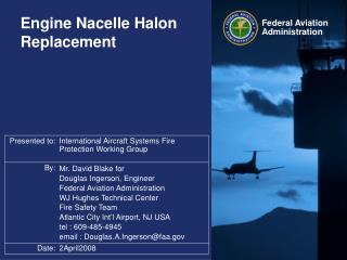Engine Nacelle Halon Replacement