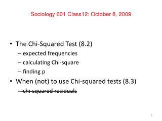 Sociology 601 Class12: October 8, 2009