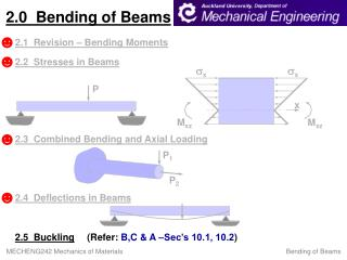 2.0  Bending of Beams