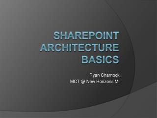 Sharepoint Architecture  Basics