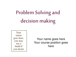 Project Planning or Problem Solving