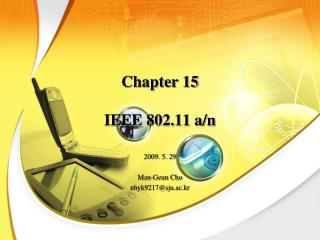 Chapter 15  IEEE 802.11 a