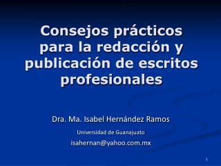 Consejos pr cticos para la redacci n y publicaci n de escritos profesionales