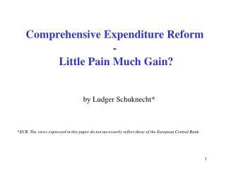 Comprehensive Expenditure Reform