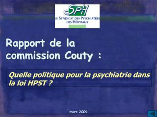 Rapport de la  commission Couty :