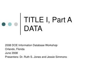 TITLE I, Part A DATA