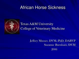 African Horse Sickness