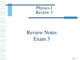 Physics I Review 3