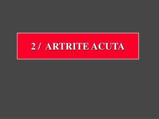 Artrite acuta