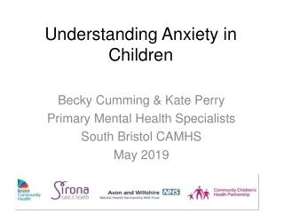 Understanding and managing anxiety in children