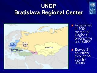 UNDP  Bratislava Regional Center