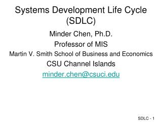 SDLC: System Development Life Cycle