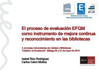 El proceso de evaluaci n EFQM como instrumento de mejora continua y reconocimiento en las bibliotecas