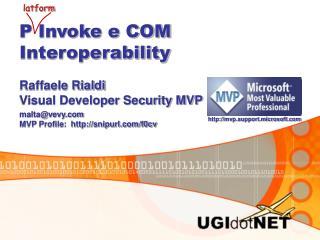 P Invoke e COM Interoperability