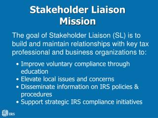 Stakeholder Liaison Mission