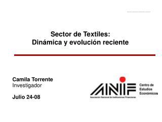 Sector de Textiles:  Din mica y evoluci n reciente