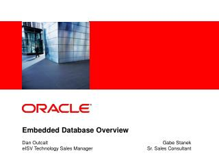 Embedded Database Overview