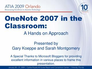 OneNote 2007 in the Classroom: