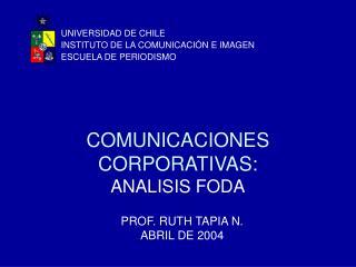 COMUNICACIONES CORPORATIVAS:  ANALISIS FODA