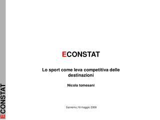 ECONSTAT  Lo sport come leva competitiva delle destinazioni  Nicola tomesani
