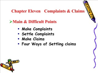 Chapter Eleven   Complaints  Claims