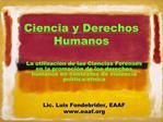 Ciencia y Derechos Humanos