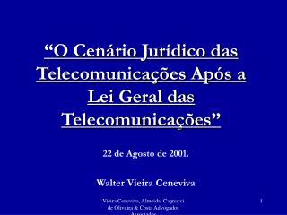 O Cen rio Jur dico das Telecomunica  es Ap s a Lei Geral das Telecomunica  es