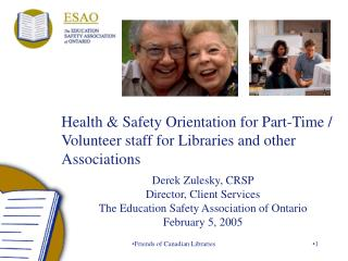 Health  Safety Orientation for Part-Time