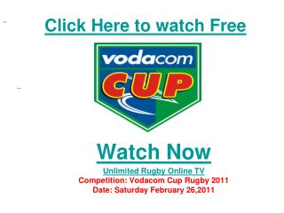 Boland vs Griquas live Streaming Vodacom Cup Rugby 2011 HD V