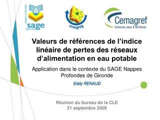 R union du bureau de la CLE 21 septembre 2009