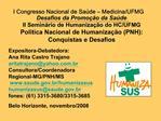 I Congresso Nacional de Sa de   Medicina
