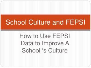 School Culture and FEPSI