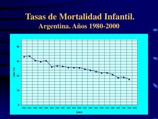 Tasas de Mortalidad Infantil. Argentina. A os 1980-2000