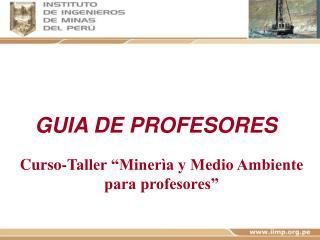 Curso-Taller  Miner a y Medio Ambiente para profesores
