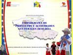 CRONOGRAMA DE PROYECTOS Y ACTIVIDADES CULTURALES 2010-2011