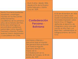 Confederaci n Peruana -Boliviana