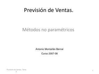 Previsi n de Ventas.
