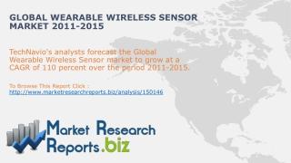Wearable Wireless Sensor Market-Global Industry Size,Trends,
