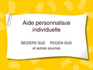 Aide personnalis e individuelle