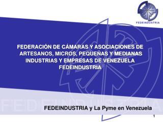FEDEINDUSTRIA y La Pyme en Venezuela