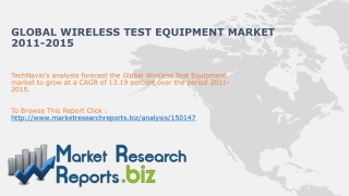 Wireless Test Equipment Market- Global Industry Size,Trends,