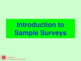 Introduction to Sample Surveys