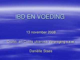 IBD EN VOEDING