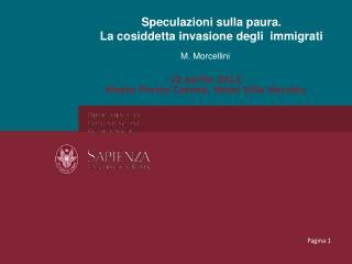 Presentazione Morcellini