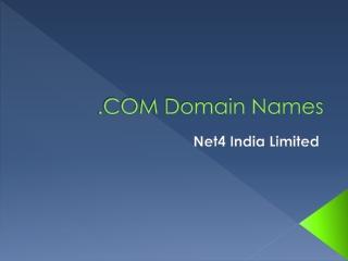 .COM Domain Names