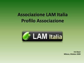 Associazione LAM Italia Profilo Associazione