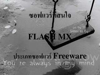 FLASH MX   Freeware